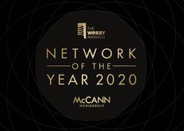 McCann Worldgroup fue nombrada por primera vez como Red del Año en los premios Webby