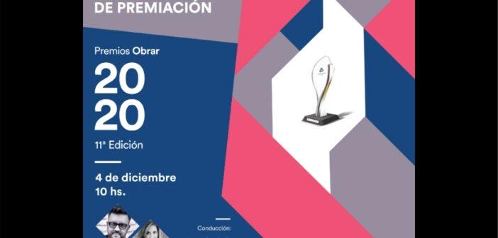 Llega la entrega de los Premios Obrar 2020